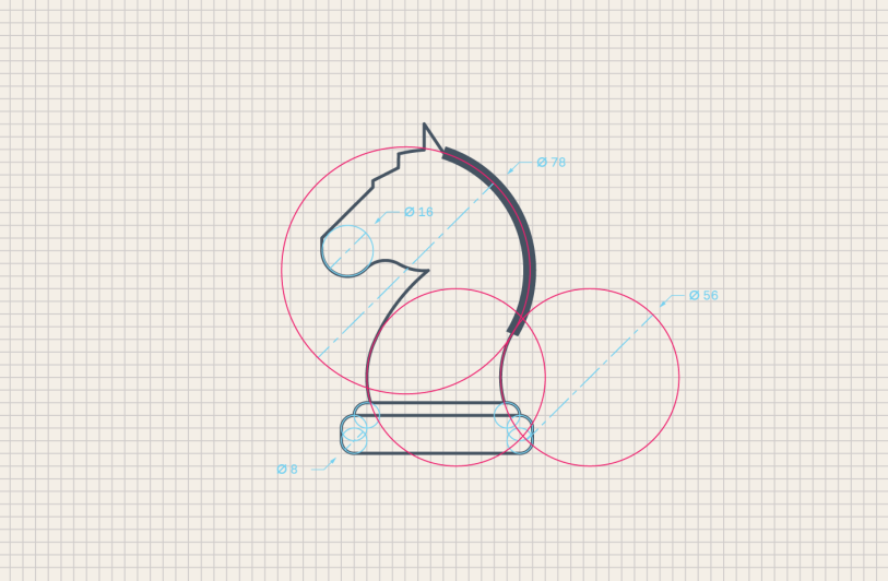 horse icon construction
