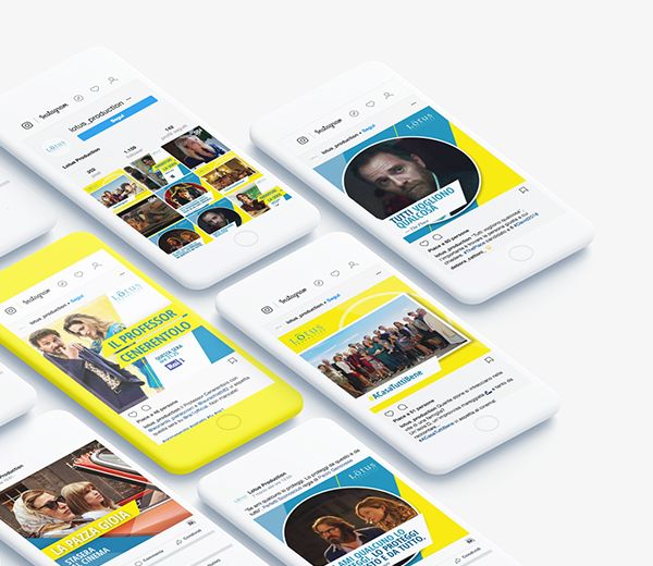 Lotus Production – social media graphic identity