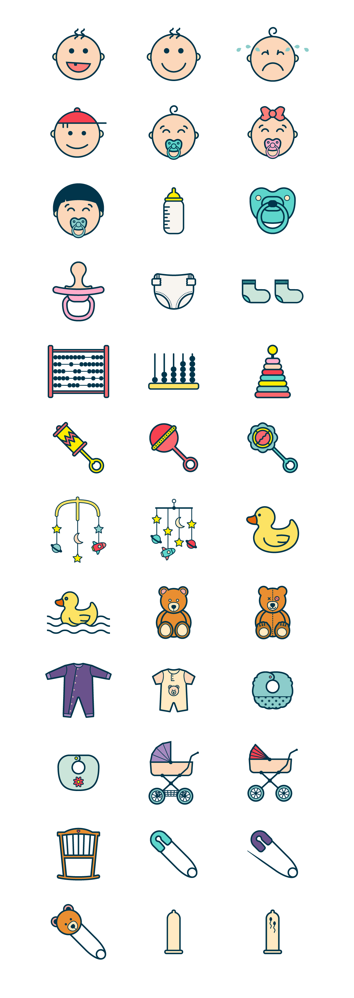 babies icon pack color